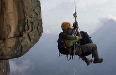 Abseiler Hanging Out