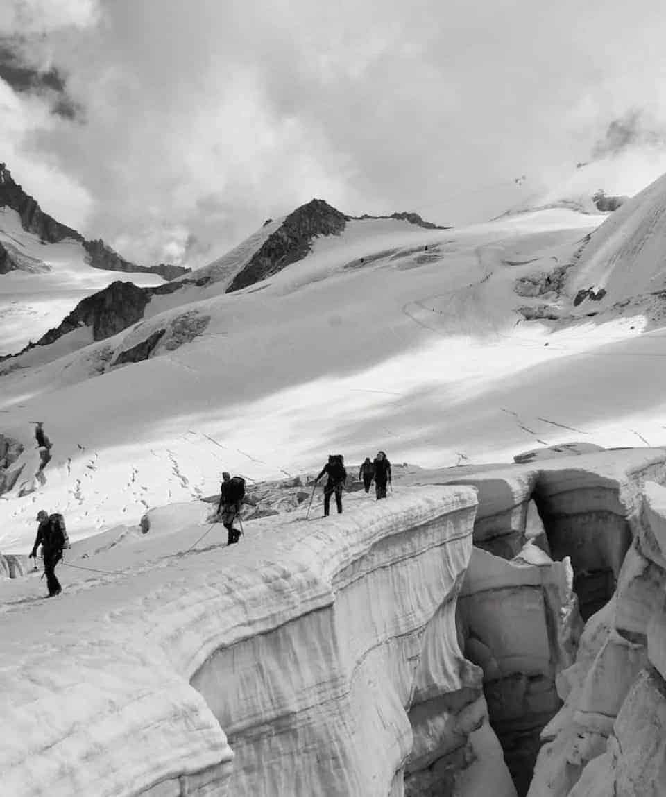 Giaiant Glacier vallè Blanche