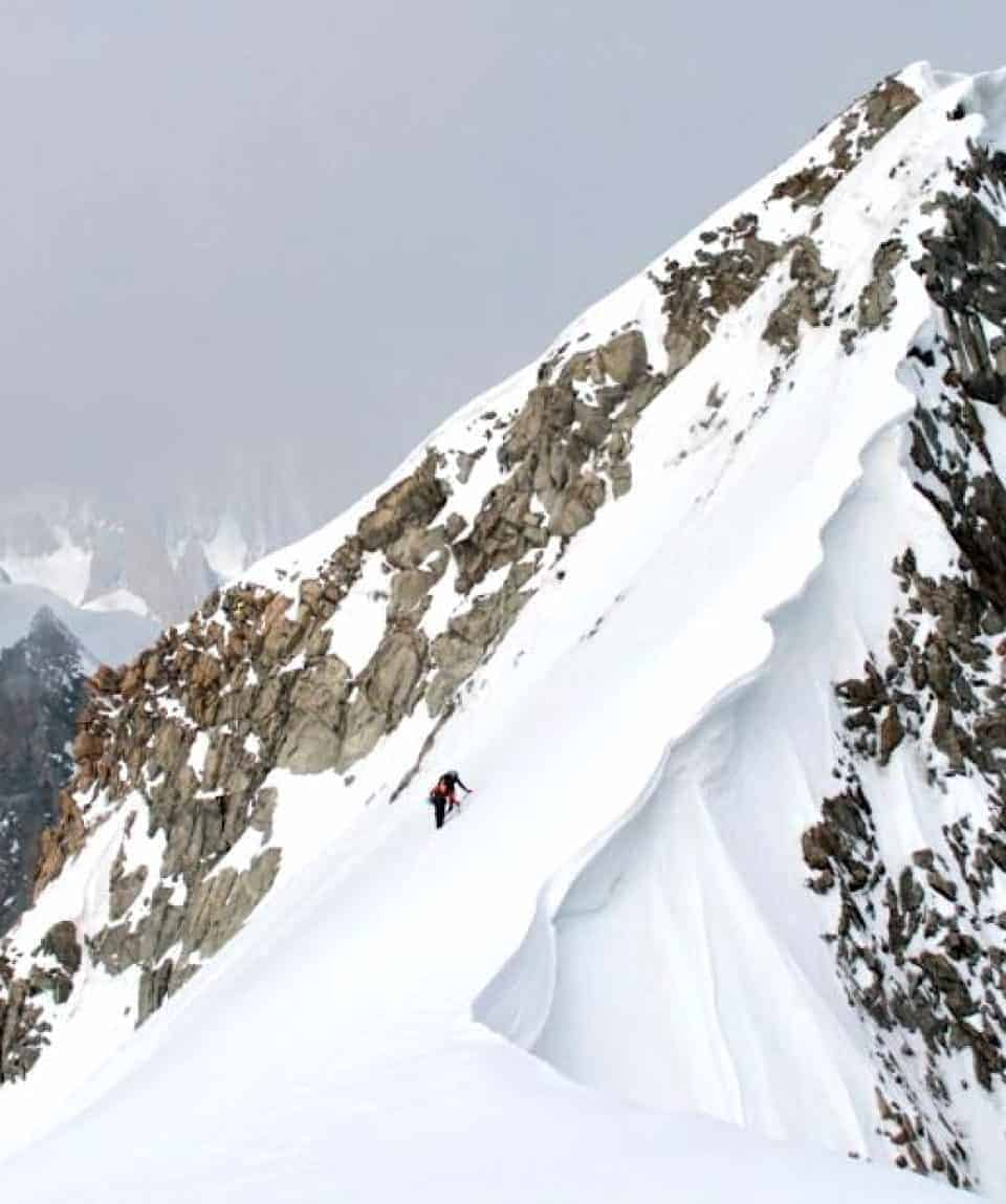 Grand Jorasse final ridge