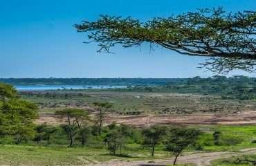 Lake Ndutu seen from Ang'ata Migration Camp