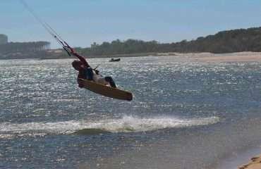 Kite Jump in the Lagoon