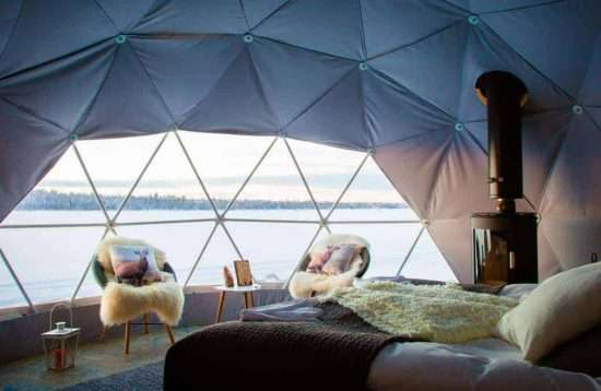 Aurora Dome Glamping & Wilderness Activities, 5 Days, Polar, Finland