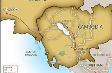 Ride Saigon to Bangkok Map