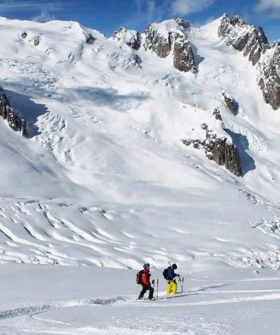 Skiing Vallè Blanche